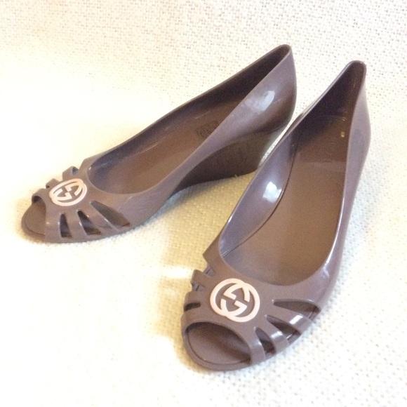 f91d6504e3dd6 Gucci Shoes - Gucci Marola Jelly Wedge Sandals
